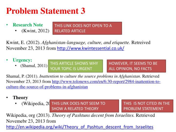 Problem Statement 3