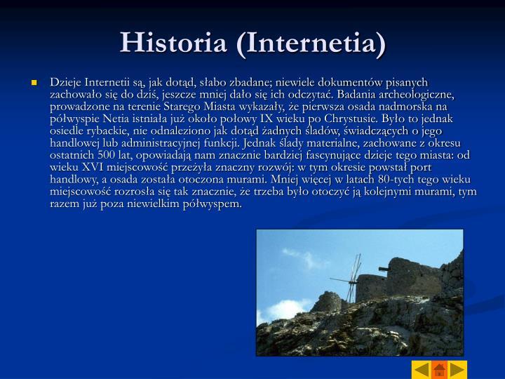 Historia (Internetia)
