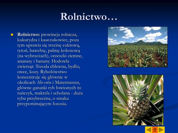 Rolnictwo…