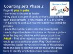 counting sets phase 21