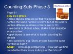 counting sets phase 31