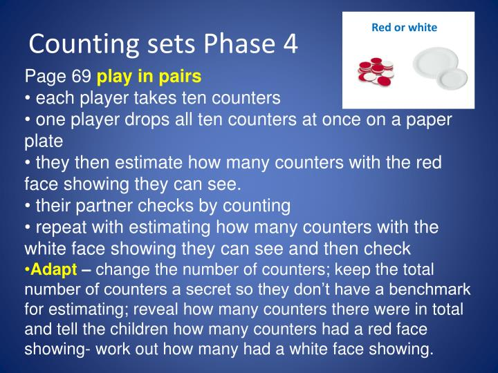 Counting sets Phase 4