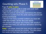 counting sets phase 51