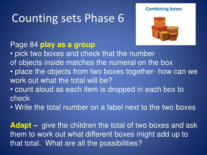 Combining boxes