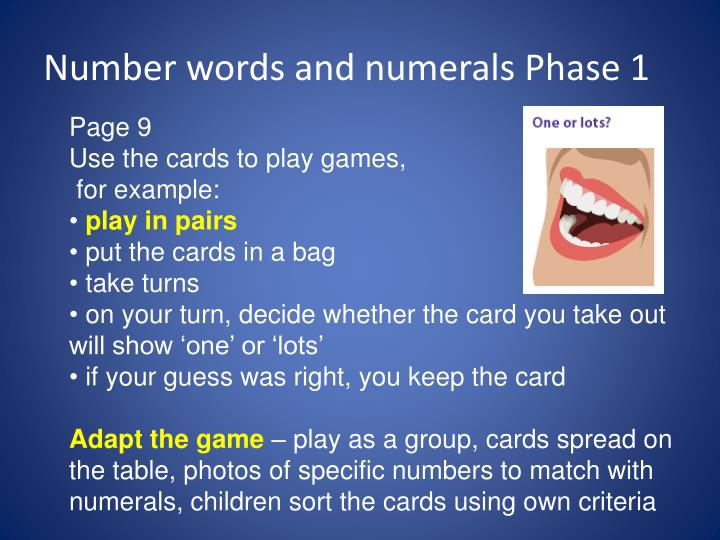number words and numerals phase 1