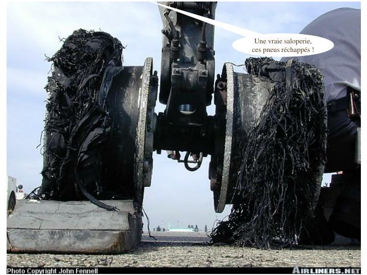 Une vraie saloperie, ces pneus réchappés !