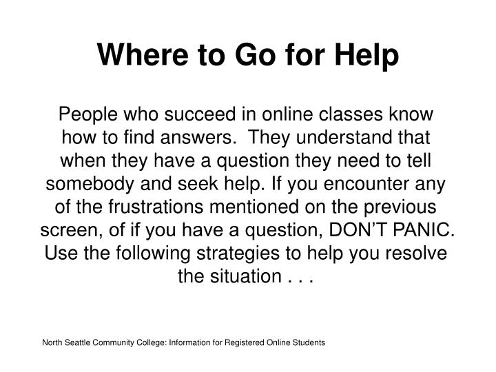 Where to Go for Help