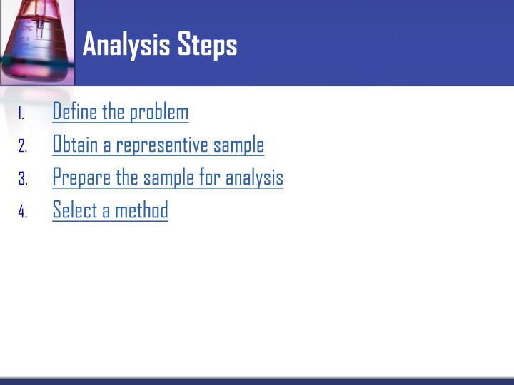 Analysis Steps