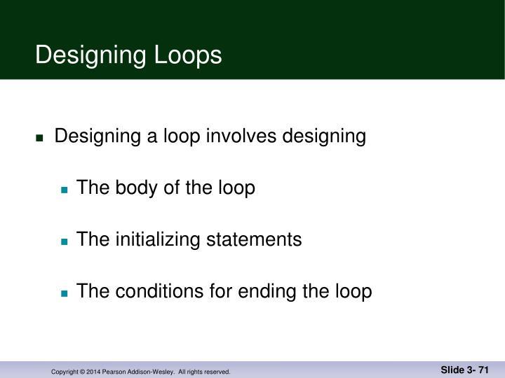 Designing Loops