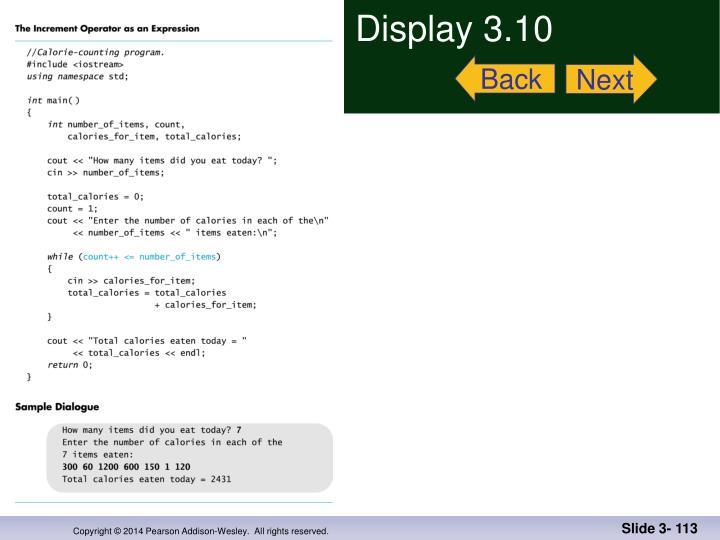 Display 3.10