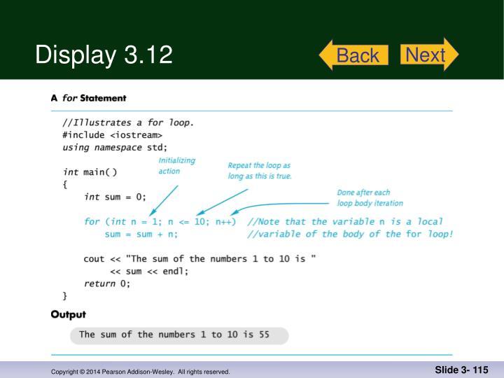 Display 3.12