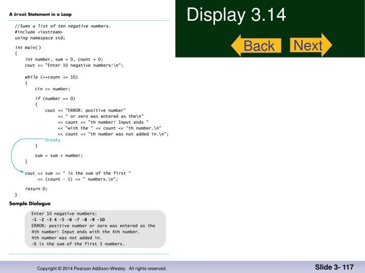 Display 3.14