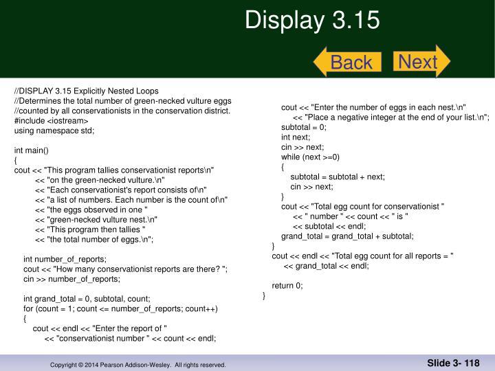 Display 3.15