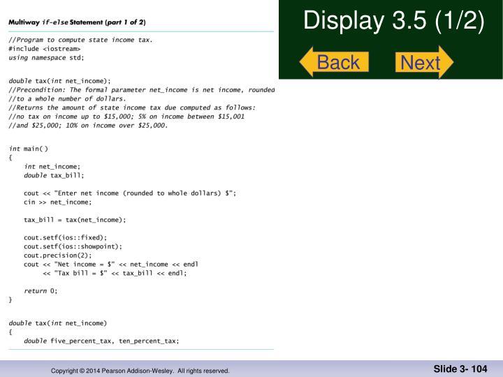 Display 3.5 (1/2)