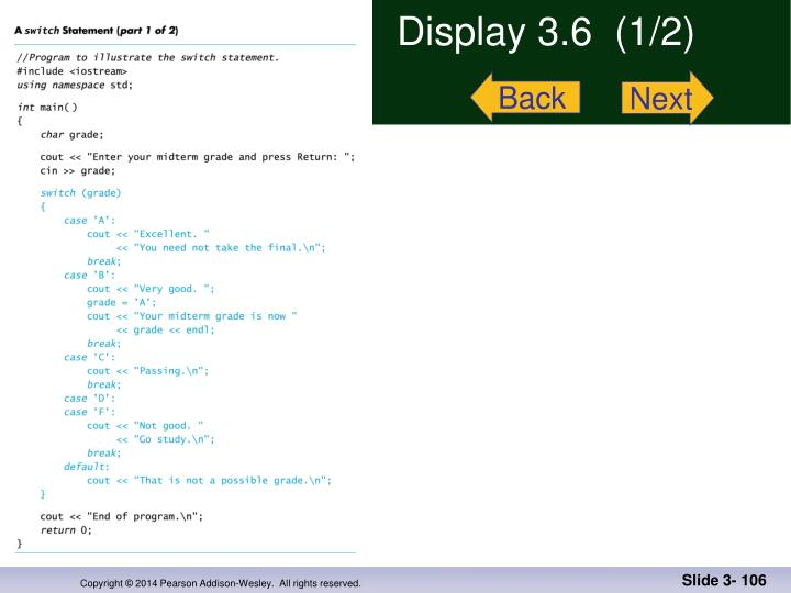 Display 3.6  (1/2)