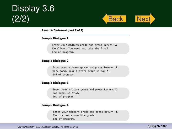 Display 3.6