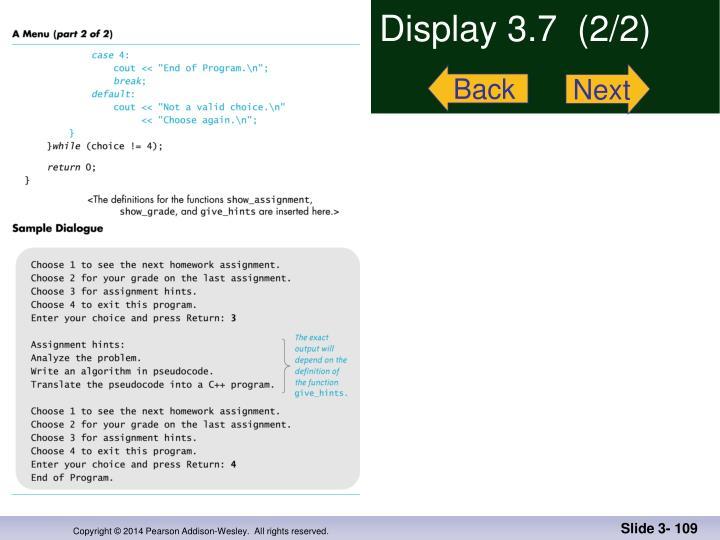 Display 3.7  (2/2)