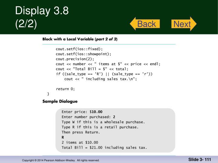 Display 3.8