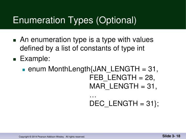 Enumeration Types (Optional)