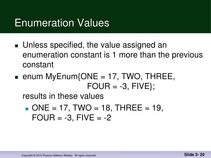Enumeration Values
