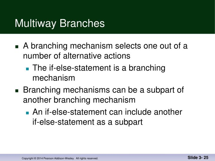Multiway Branches