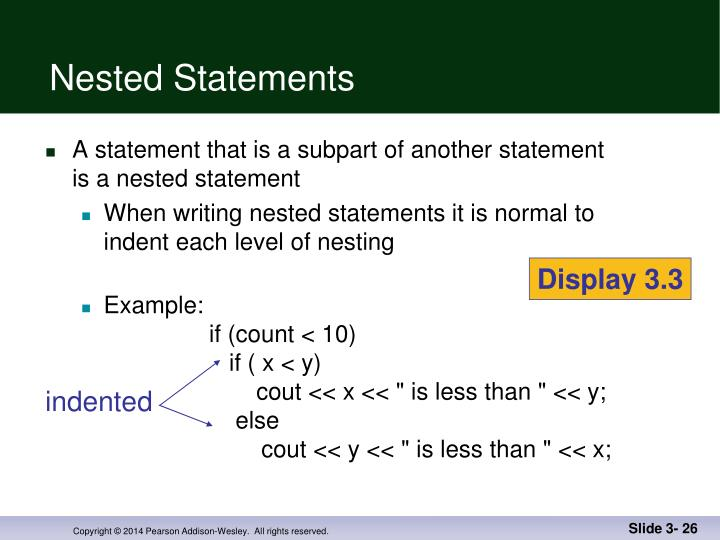 Nested Statements