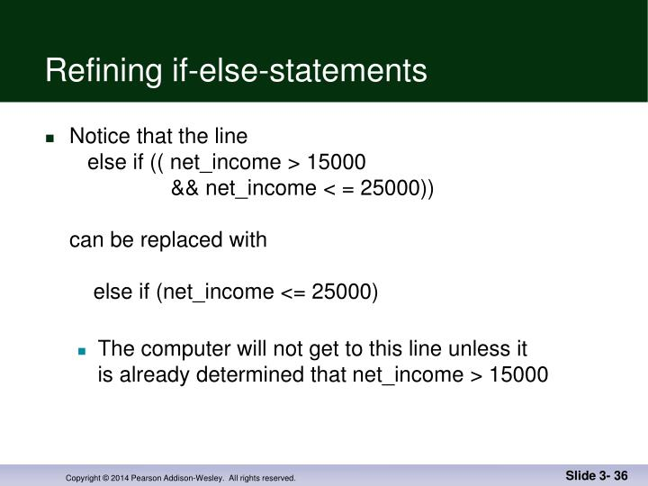 Refining if-else-statements