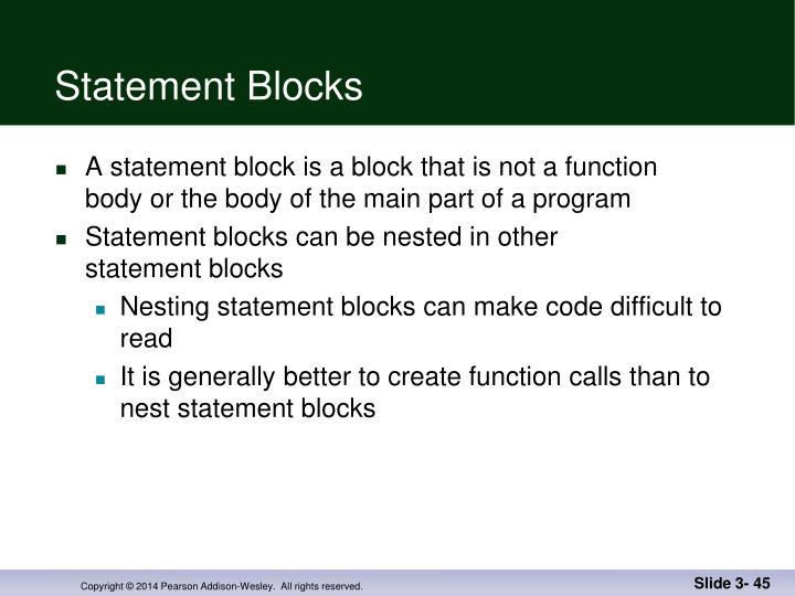 Statement Blocks