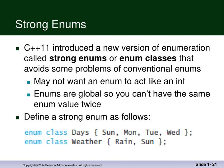 Strong Enums