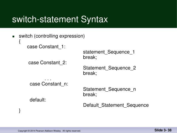 switch-statement Syntax