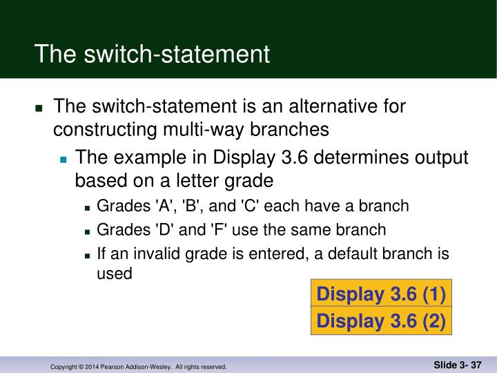 The switch-statement