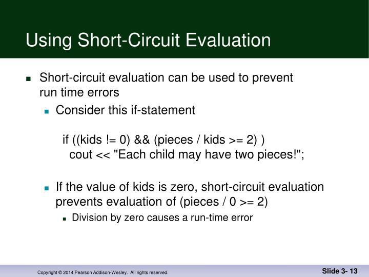 Using Short-Circuit Evaluation