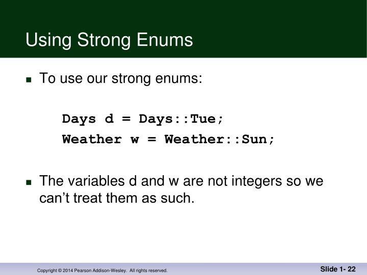 Using Strong Enums