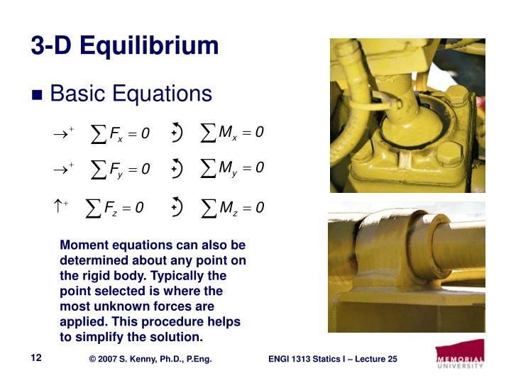 3-D Equilibrium