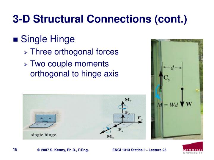 3-D Structural Connections (cont.)