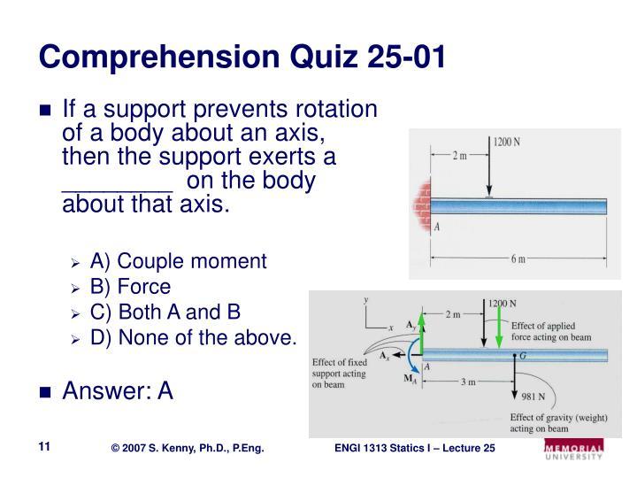 Comprehension Quiz 25-01