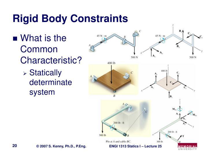 Rigid Body Constraints