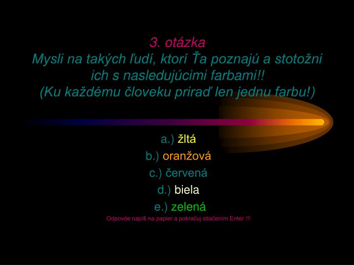 3. otázka