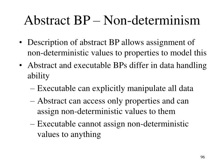 Abstract BP – Non-determinism