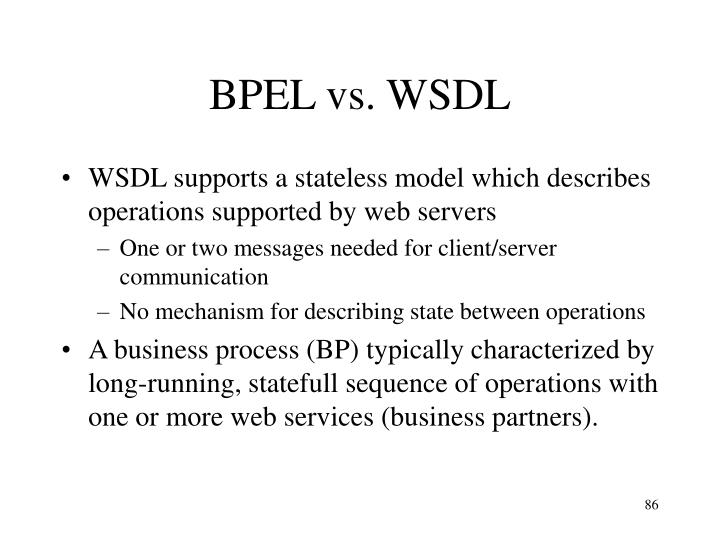 BPEL vs. WSDL