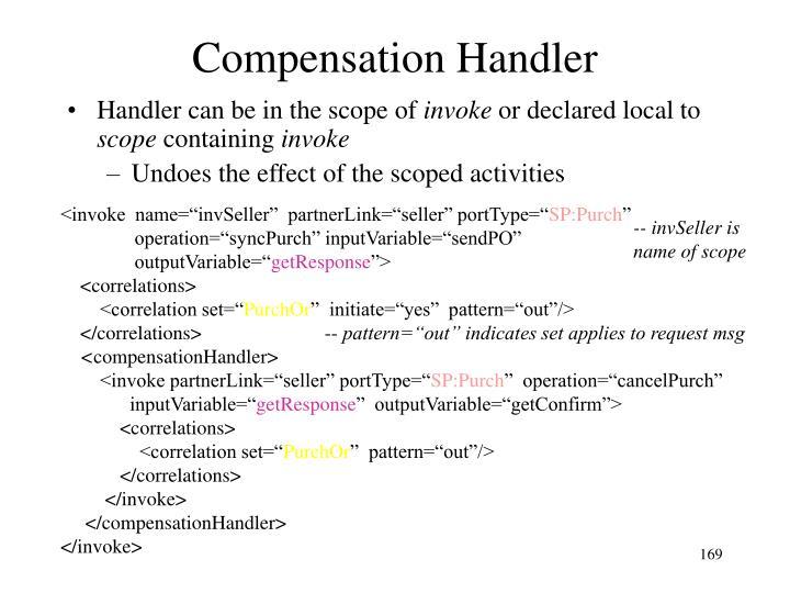 Compensation Handler