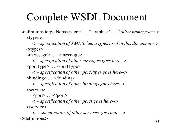 Complete WSDL Document