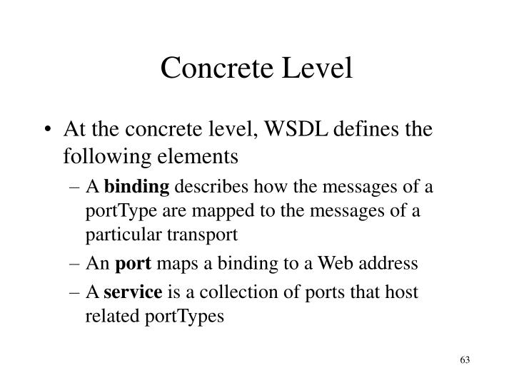 Concrete Level