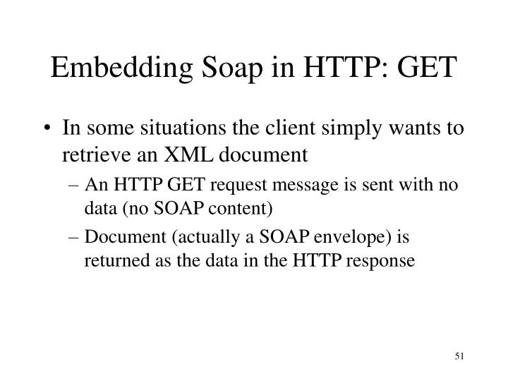 Embedding Soap in HTTP: GET