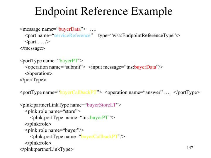 Endpoint Reference Example