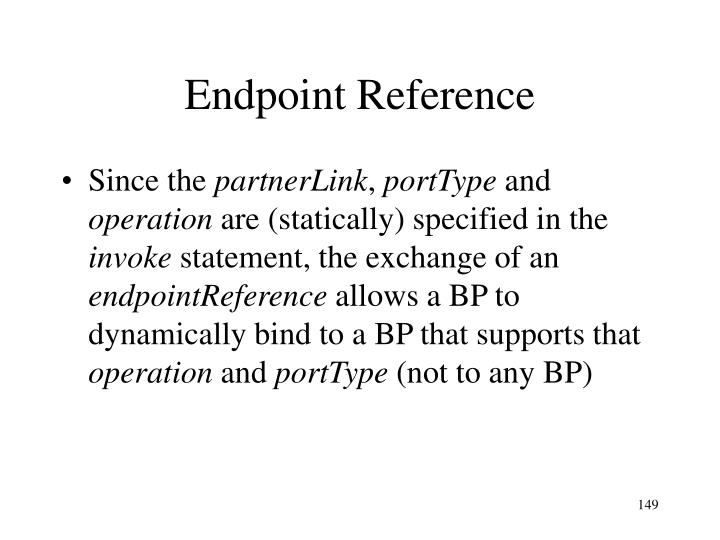 Endpoint Reference