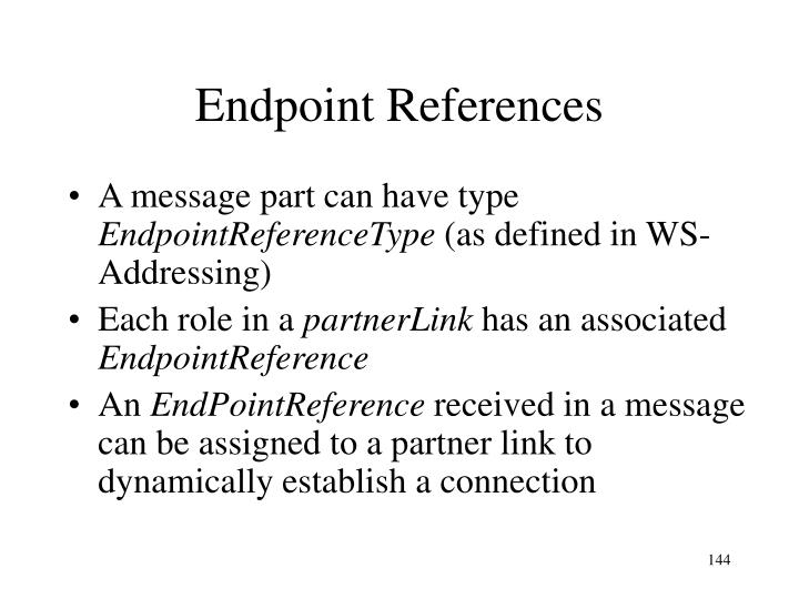 Endpoint References