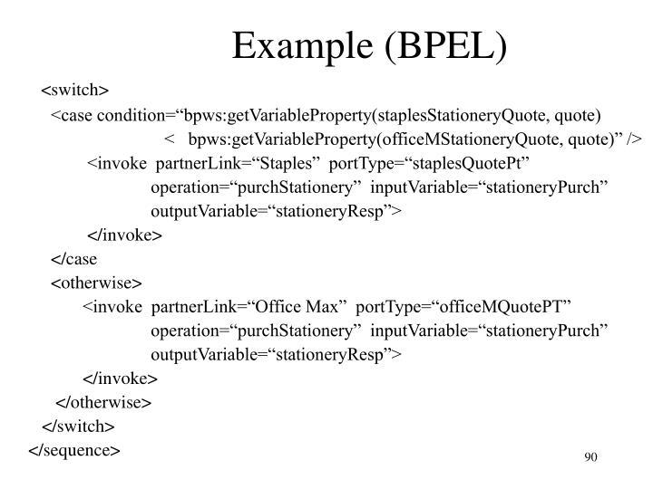 Example (BPEL)