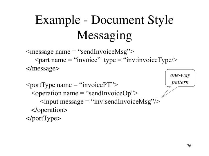 Example - Document Style Messaging