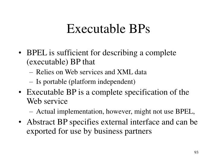 Executable BPs